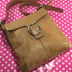 COACH Tan Leather Bleecker Crossbody/Shoulder Bag